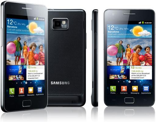 Samsung phone showing Touchwiz.