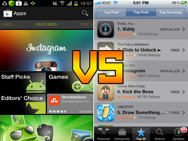 google play android market vs apple app store 2012. Black Bedroom Furniture Sets. Home Design Ideas