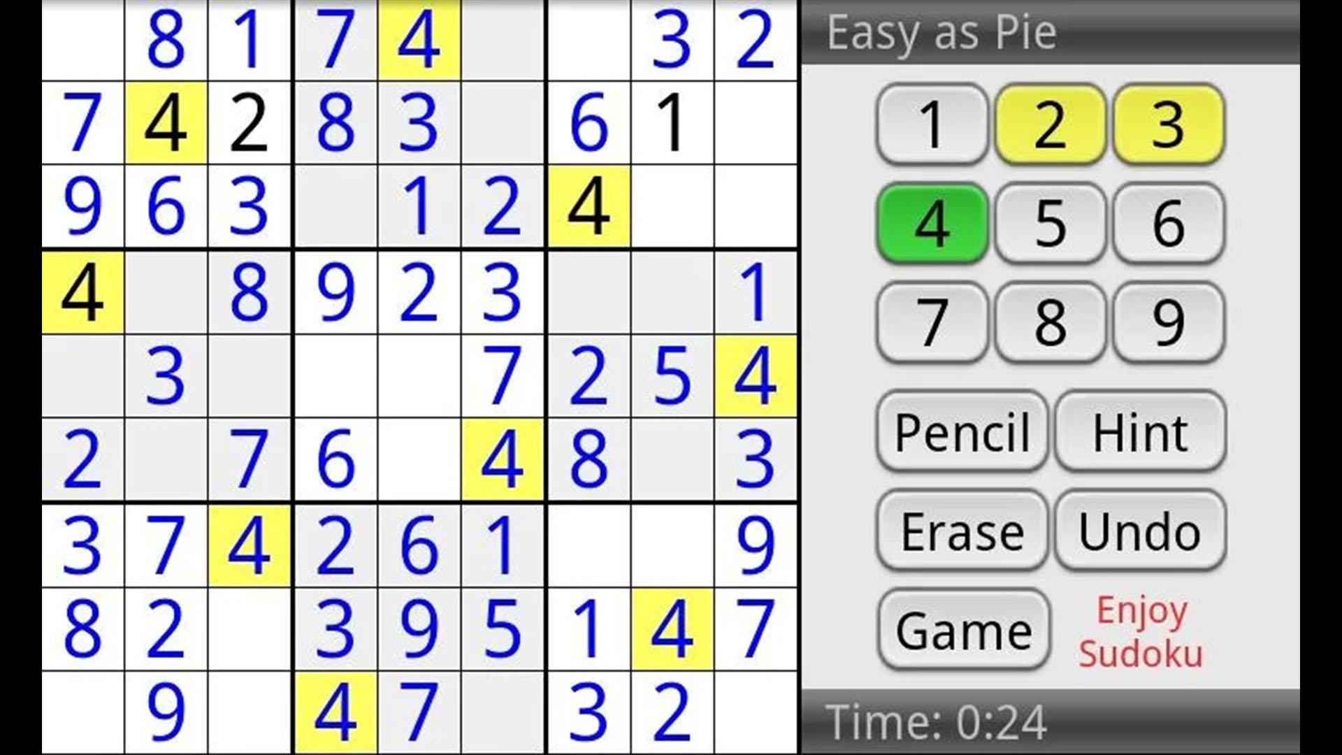 Enjoy Sudoku screenshot