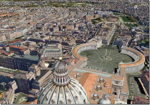rome 3d map google earth