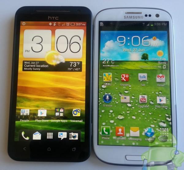 Samsung galaxy s3 vs htc evo one 4g lte