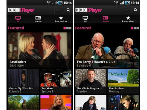 BBC iPlayer app screenshots