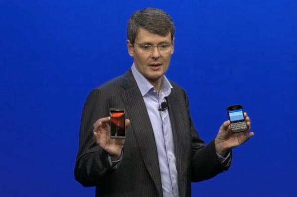 Blackberry CEO Z10 launch thorsten launch