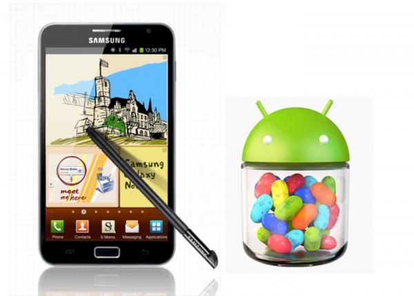 Galaxy Note II Jelly Bean