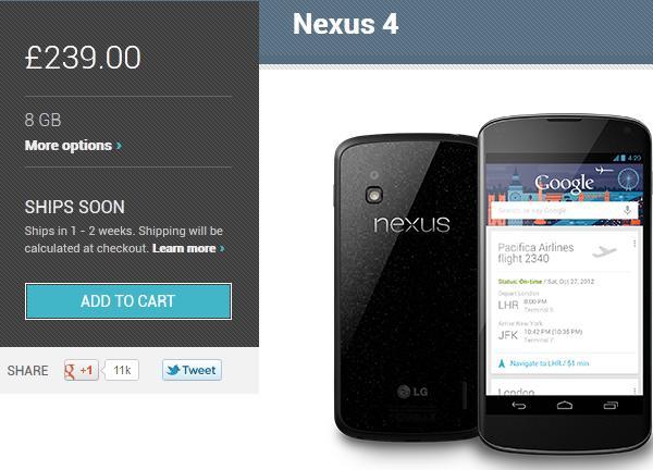 nexus4 on sale