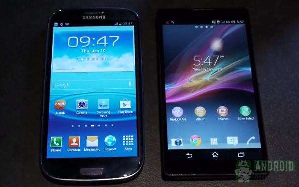 xperia zl vs galaxy s3 display