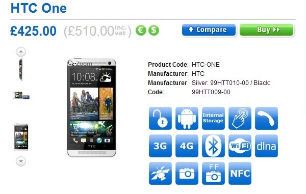 HTC One UK