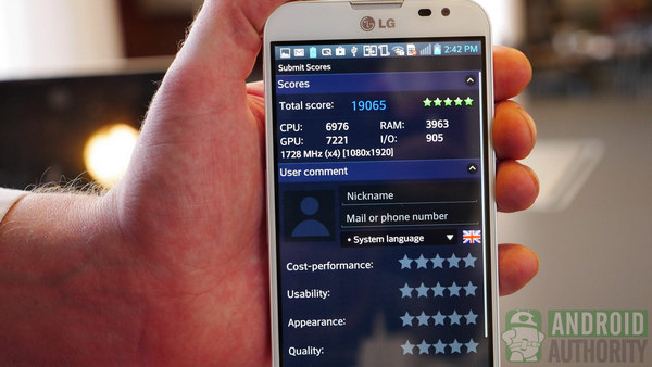 Some great scores for the Optimus G Pro