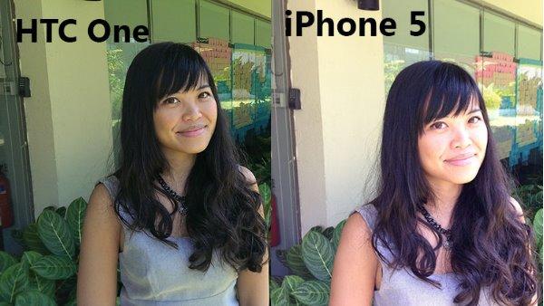 htc one vs iphone 5 camera