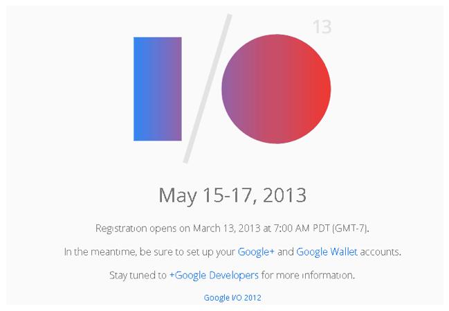 google io registration