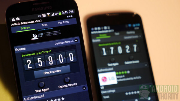samsung galaxy s4 vs google nexus 4 benchmarks aa 600