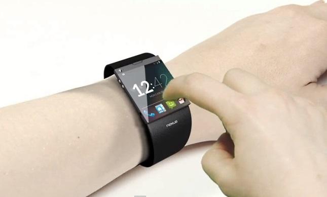 Google Smartwatch 3D render concept