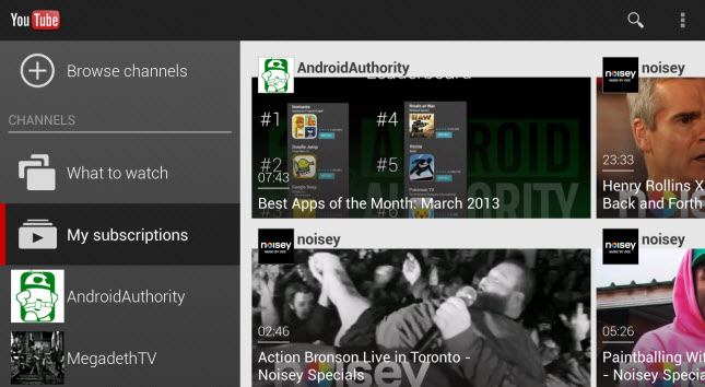 YouTube Android app update