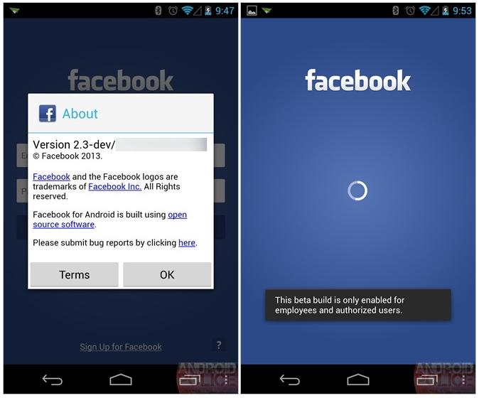 facebook launcher screenshot