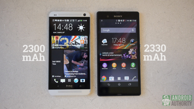 htc one vs sony xperia z battery aa