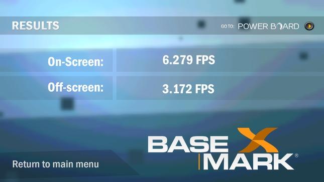 Basemark X result - HTC One X