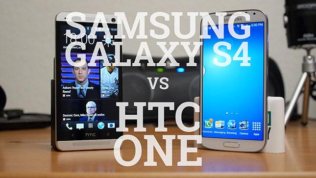 Samsung Galaxy S4 vs HTC One (video)