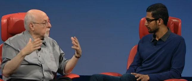 Sundar Pichai and Walt Mossberg