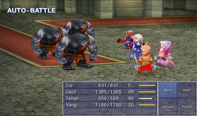final fantasy 4 combat scene