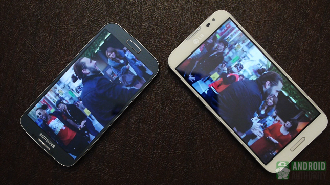 galaxy s4 vs optimus g pro aa displays