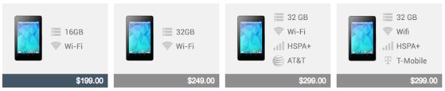Nexus 7 Price