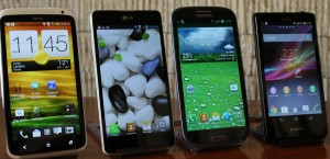 smartphones One x Optimus G pro galaxy S3 sony Xperia aa 1 1600
