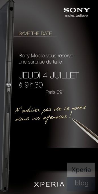 Sony Xperia Z Ultra press invite