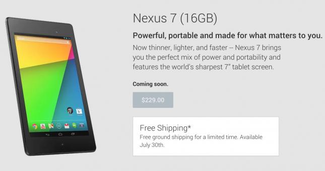 Nexus 7 Play Store
