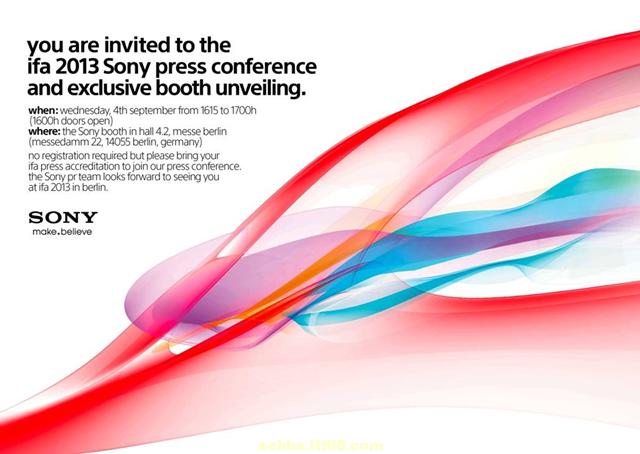 Sony IFA press event
