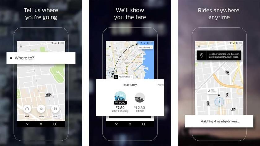 Uber, Lyft, DogVacay, etc
