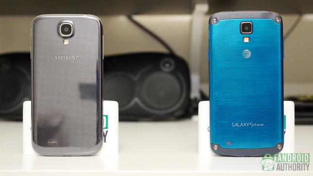 galaxy s4 vs galaxy s4 active aa both standing