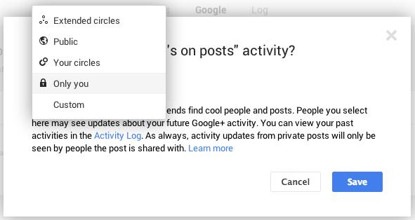 Google+ +1 activity