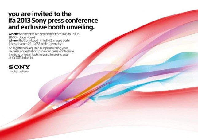 Sony IFA conference 2013