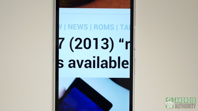 sony xperia z ultra aa display text