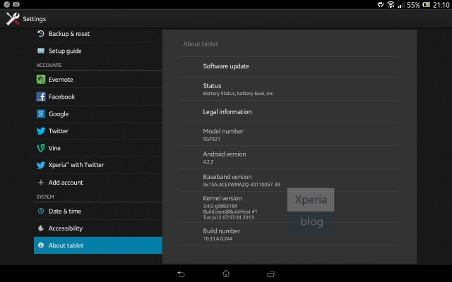 xperia tablet z android 4.2.2 update (2)