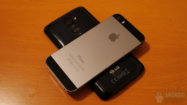 Apple iPhone 5s vs LG G2 aa 5