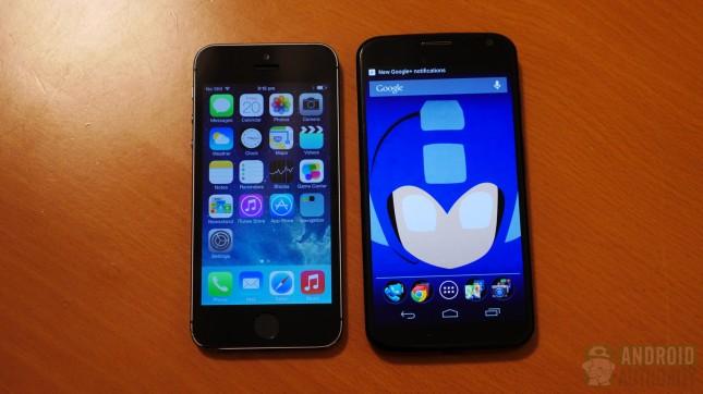 Apple iPhone 5s vs Motorola Moto X aa 7
