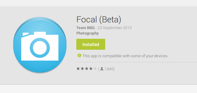 Focal (Beta) - Android Apps on Google Play