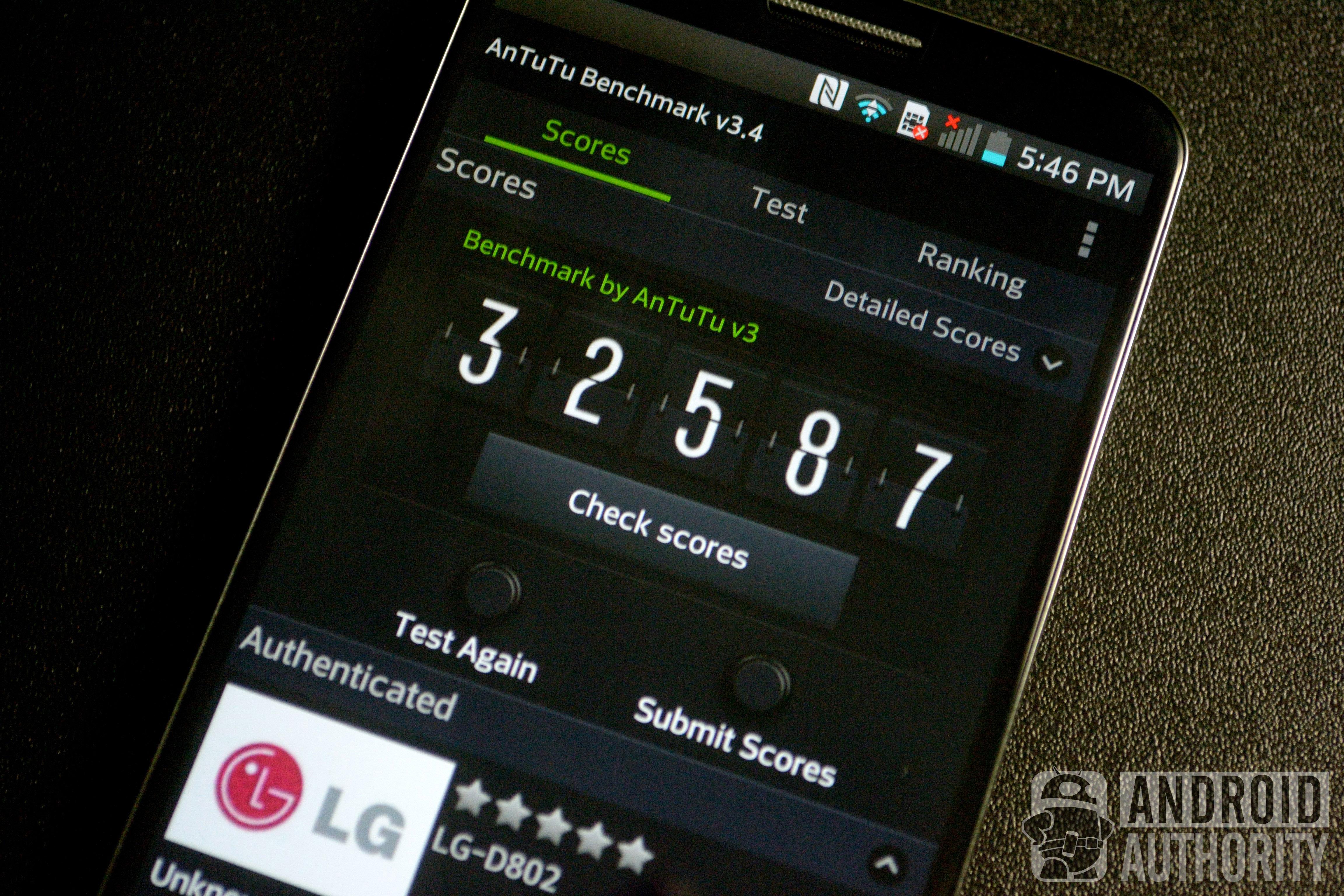 LG G2 Benchmarks