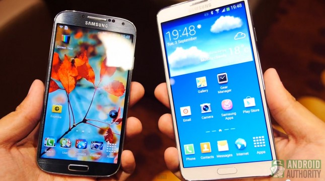 Samsung Galaxy Note 3 vs Samsung Galaxy S4-2 AA