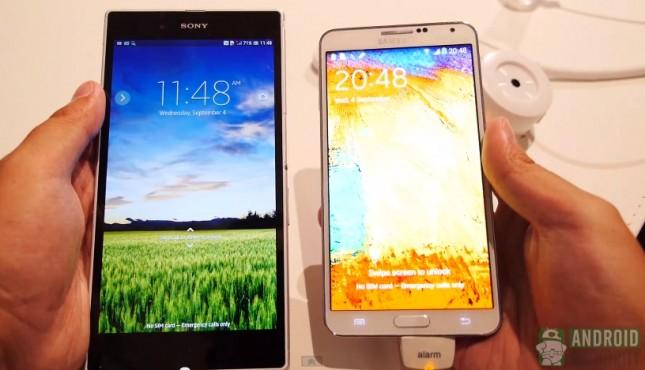 Samsung Galaxy Note 3 vs Sony Xperia Z Ultra