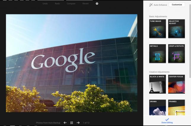 Google+ Photo Enhancements