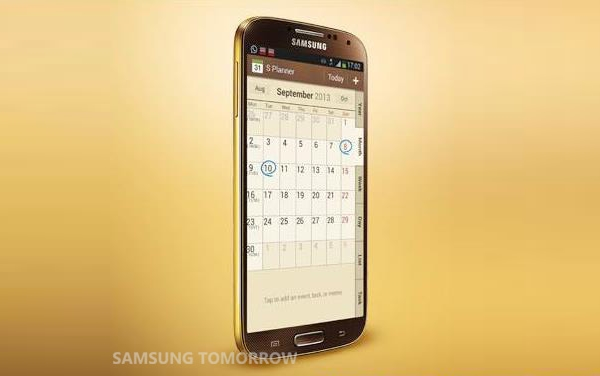 samsung galaxy s4 gold brown