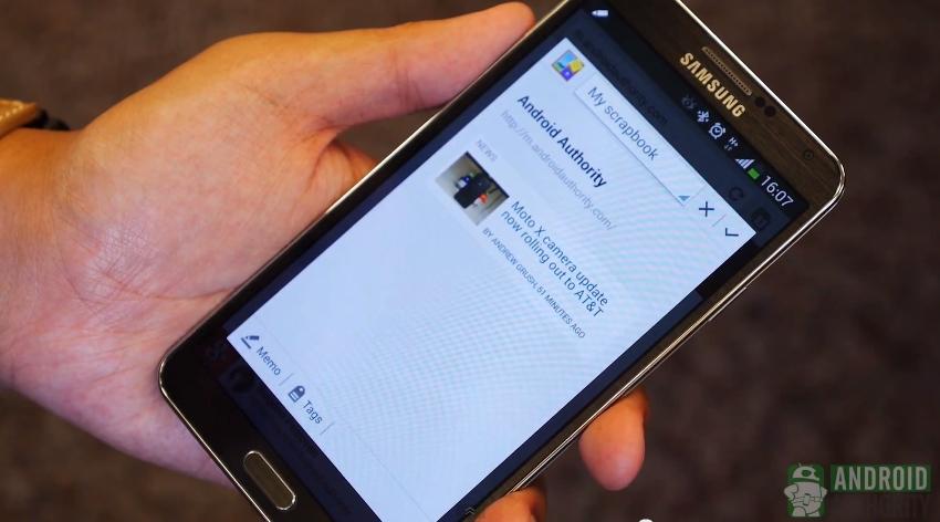 Galaxy Note 3 S Pen scrapbook