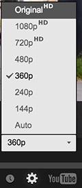 Quality Options YouTube 4k