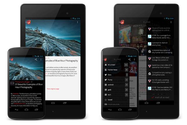 Flyne offline reader app comes from Falcon Pro developer