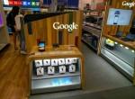 Google display case at Best Buy