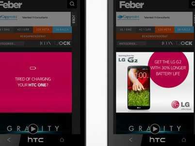 LG G2 HTC ad
