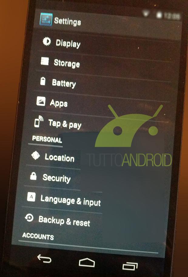 Nexus 5 - Android 4.4 KitKat