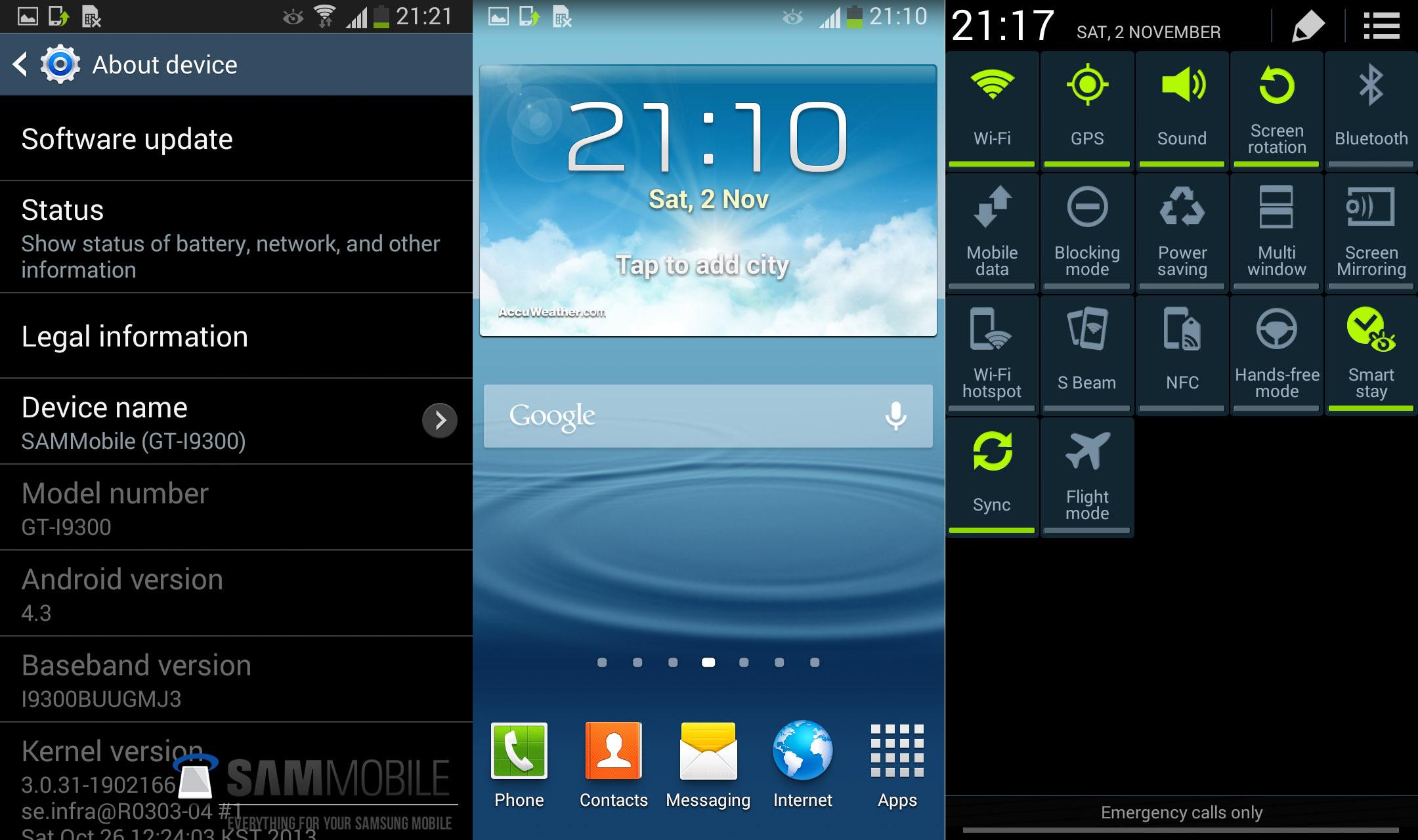 Samsung galaxy s3 прошивка ser